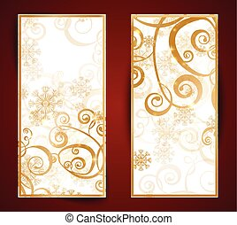 Elegant christmas black and gold banner