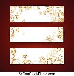 Elegant christmas black and gold banner