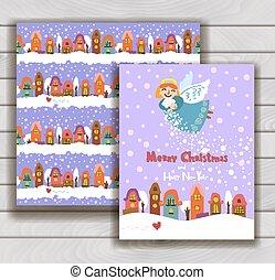 Elegant Christmas card with an envelope