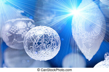 Elegant Christmas decorations with sparkles