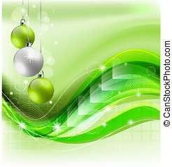 Elegant Christmas decorative background for design needs