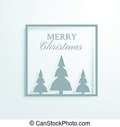 elegant christmas greeting design with trees illustration