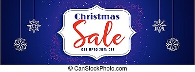elegant christmas sale purple banner design