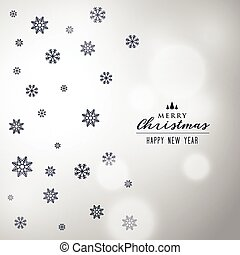 elegant christmas snowflakes background design
