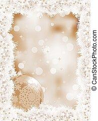 Elegant christmas snowflakes tree branches. EPS 8