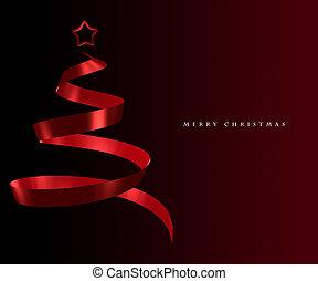 Elegant Christmas tree greeting