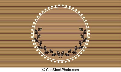 elegant circular frame with wooden background video...