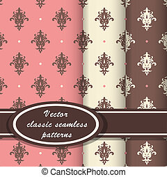 Elegant classic patterns - Set of vintage seamless patterns...