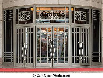 Elegant classical large two-leaf door