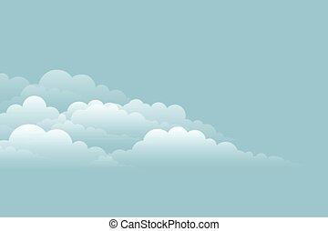 elegant cloud background on blue sky design