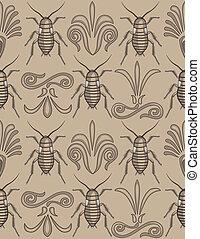 Elegant cockroach wallpaper pattern - Pattern swatch of...