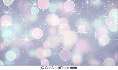 elegant color circle bokeh lights loopable background -...