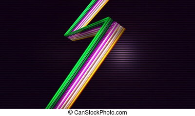 Elegant colorful lines against lined background - Digitally...
