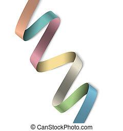 Elegant colorful ribbon banner for design