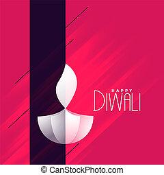 elegant creative diwali diya greeting background