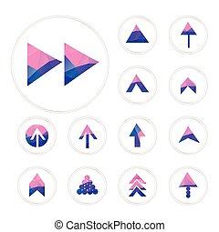 elegant crystal arrows set