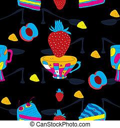 Elegant Cup Cakes Seamless Pattern