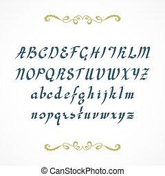 Elegant cursive font