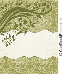 Elegant damask invitation card