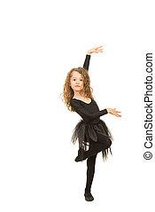 Elegant dancer girl
