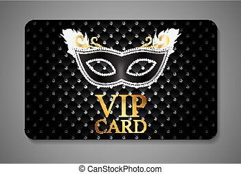 Elegant Dark VIP Card Vector Illustration