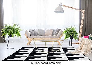 Elegant day room interior