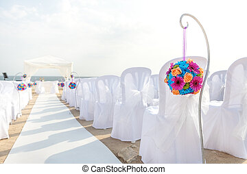 Elegant decorations for the wedding ceremony.