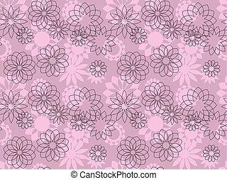 elegant decorative flowers seamless pattern. vector illustration.