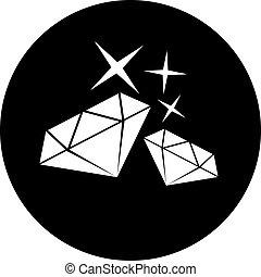 elegant diamond symbol