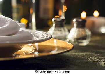 Elegant Dinner Setting Abstract Macro Background