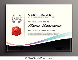 elegant diploma certificate of appreciation template