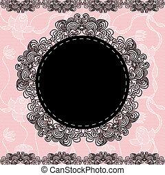Elegant doily. - Elegant doily on lace gentle background for...