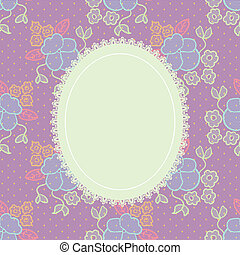 Elegant doily on lace gentle background for scrapbooks, ...