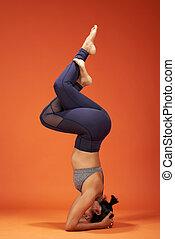 Elegant eagle asana yoga pose