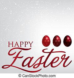 Elegant Easter egg card in vector format.