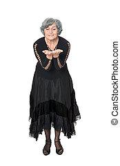 Elegant elderly woman
