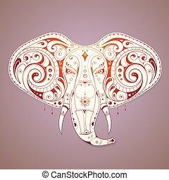 Elegant elephant illustration