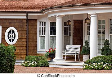 Elegant Entrance - Elegant entrance of a summer home.