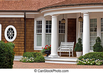 Elegant Entrance - Elegant entrance of a summer home.