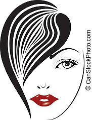 Elegant face set 10 - illustration of elegant glamour woman...