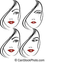 Elegant face set 3