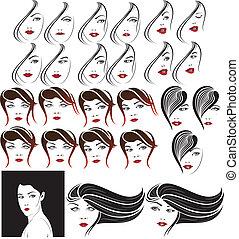Elegant Faces Set