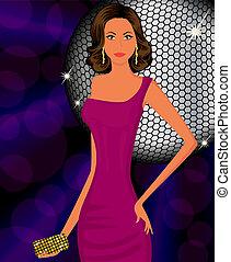 Elegant fashion girl at party