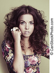 elegant fashion woman face