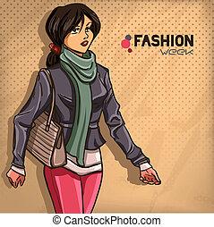 Elegant fashionable lady