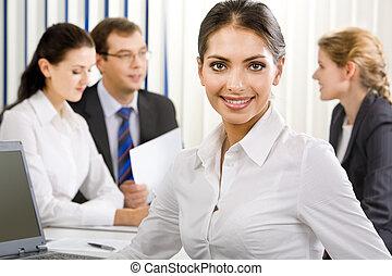 Elegant female business leader