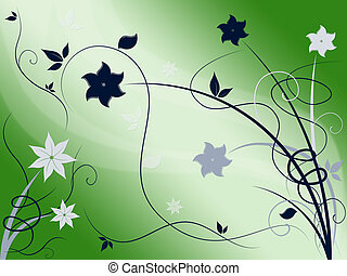 Elegant Floral Background Shows Beautiful Nature Season