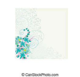 elegant floral invitation card