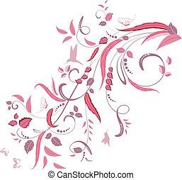 elegant floral ornament for your design