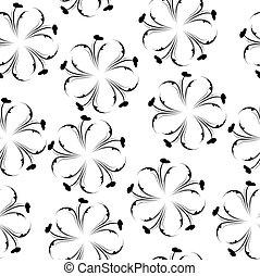 Elegant floral seamless pattern. Black and white wallpaper. Flower texture.